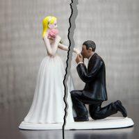 結婚式準備期間中に離婚